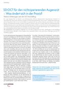 SD-OCT für den nicht-operierenden Augenarzt – Was ändert sich in der Praxis?
