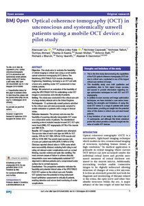 Optical coherence tomography (OCT) in unconscious and systemically unwell patients using a mobile OCT device: a pilot study