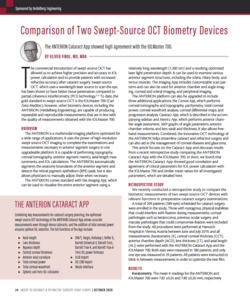 Comparison of Two Swept-Source OCT Biometry Devices