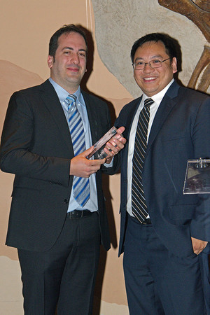 2017 Xtreme Research Award winner Dr. Massimo Fazio (left) and 2016 winner Dr. Alex Huang.