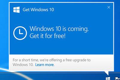 Notification Windows 10 Upgrade